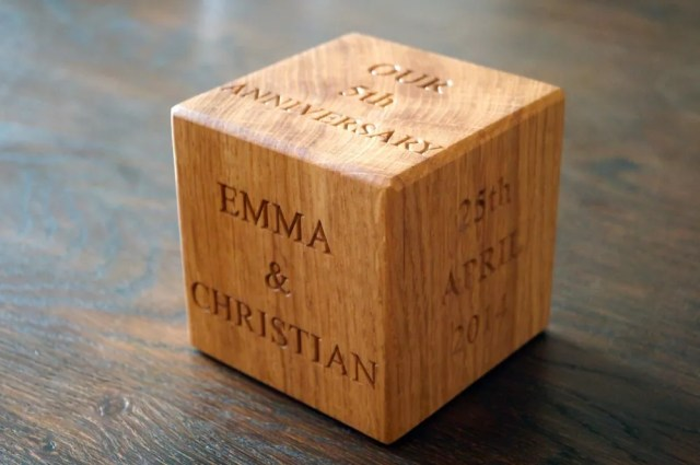 5th Wedding Anniversary Wooden Gift Ideas from MakeMeSomethingSpecial ...