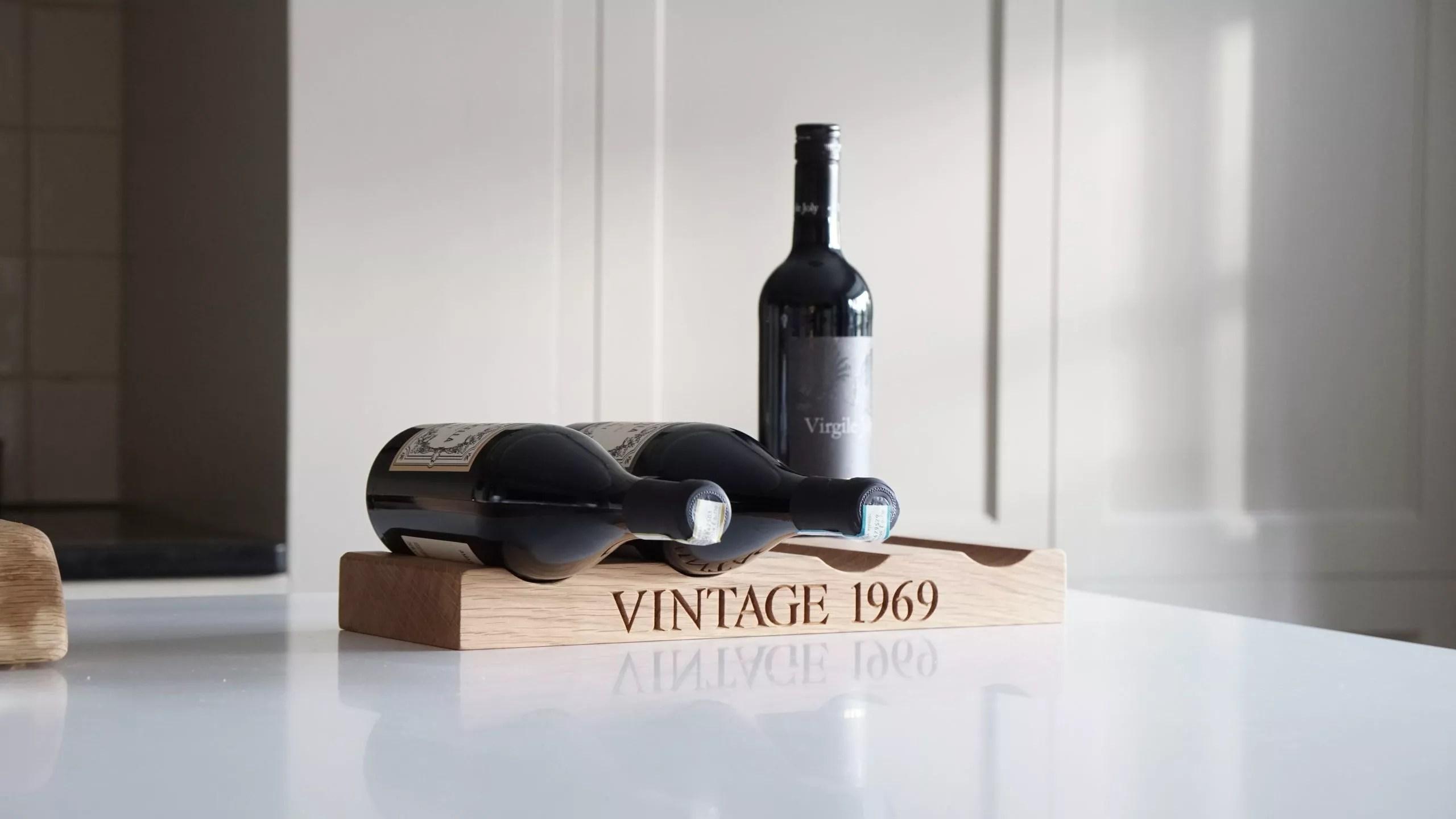 personalised wooden wine rack