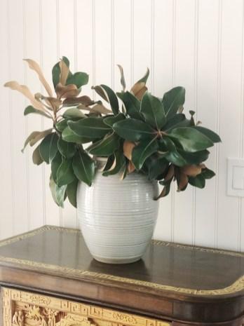 Fall Decor Magnolia Leaves in Vase