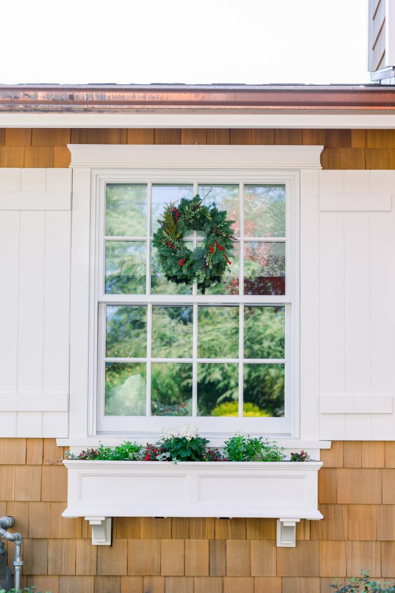Window Boxes & Window Wreath