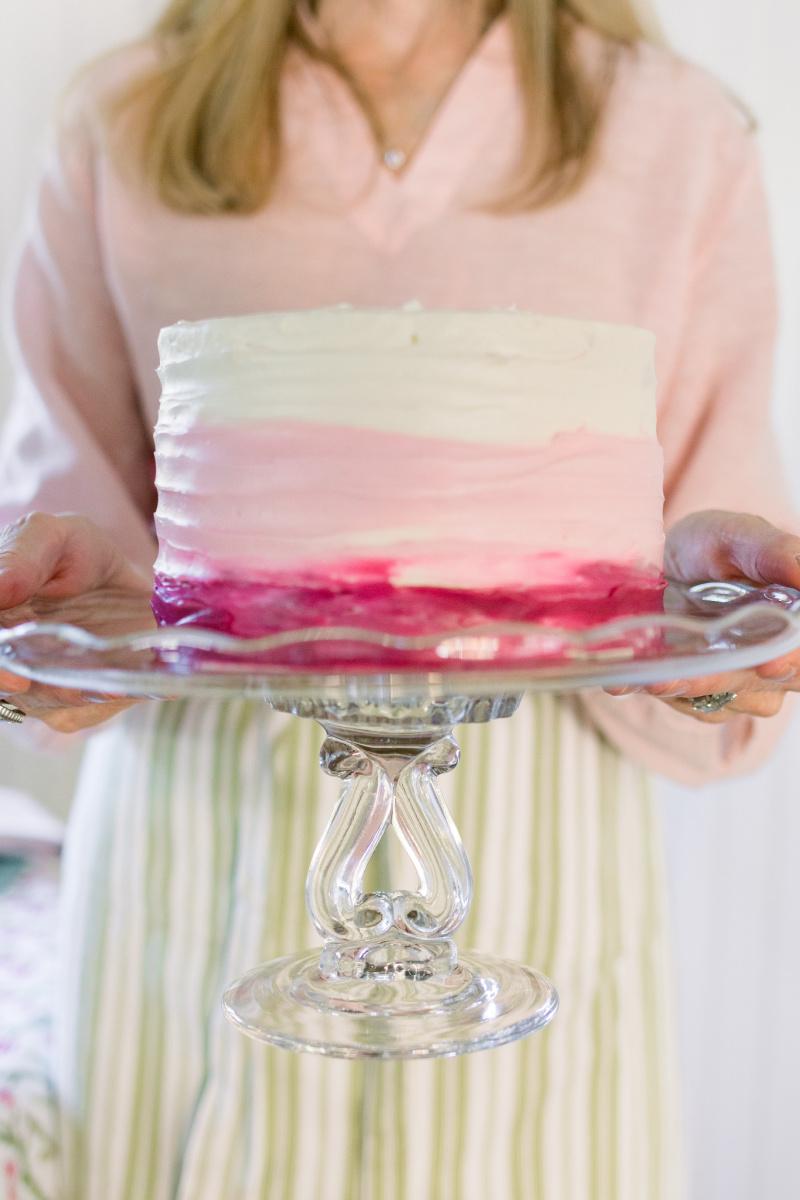 Valentine Cake on cake stand