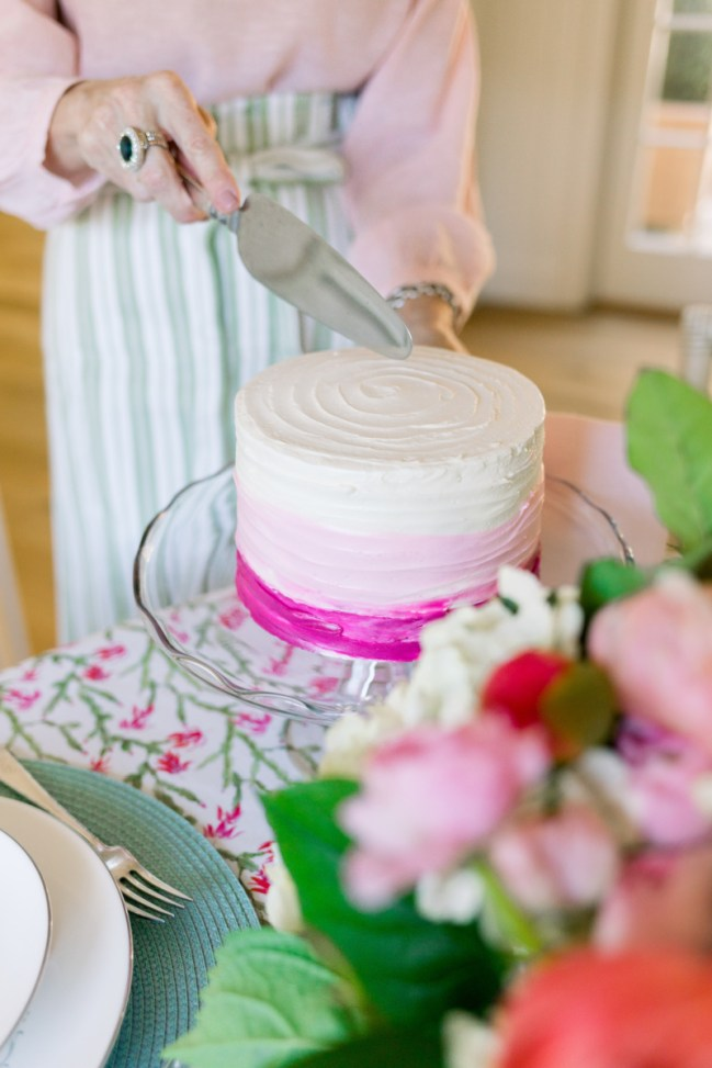 Valentine Pink Ombre Cake