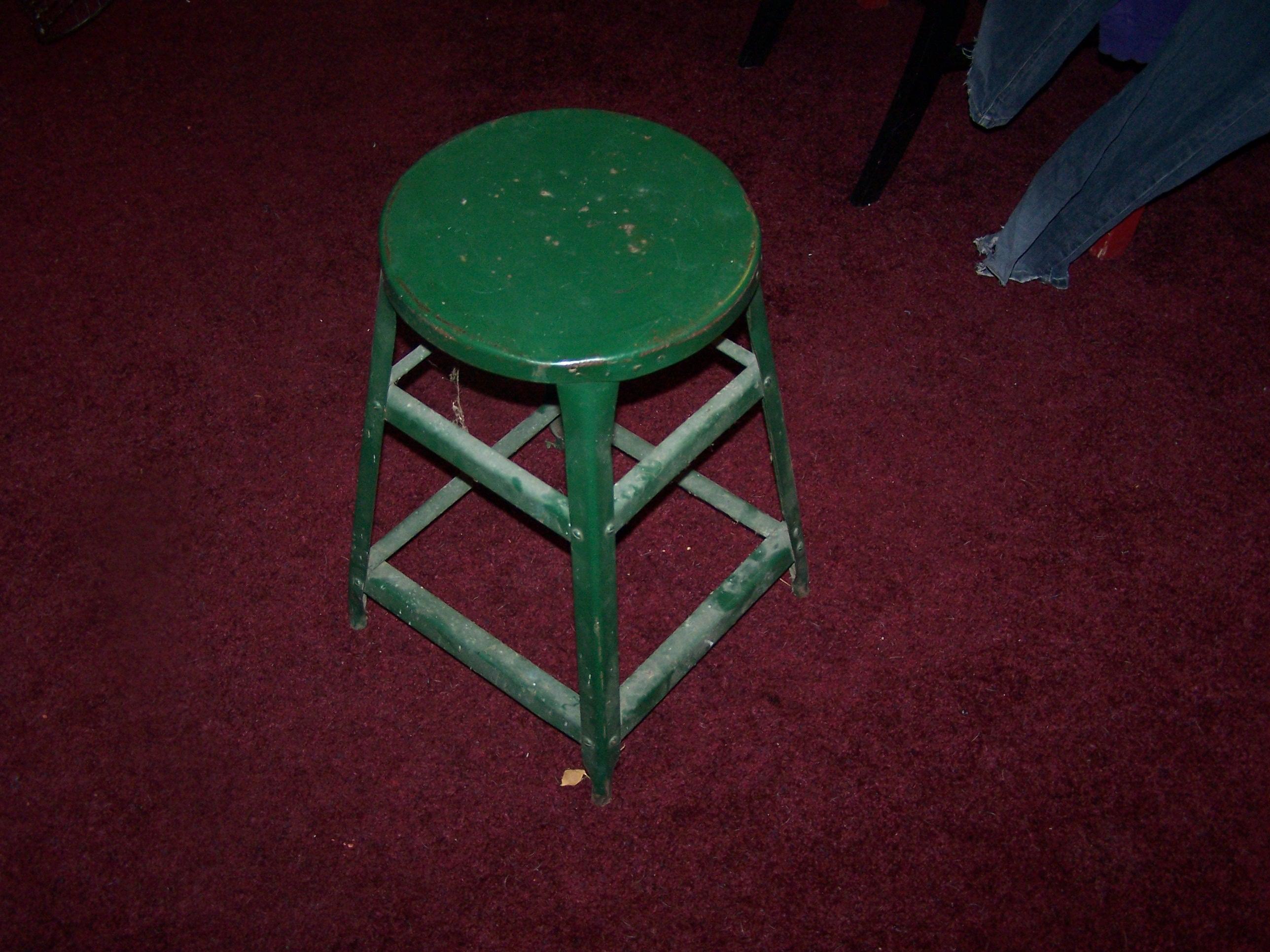 Littl metal stool before.
