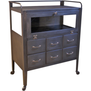 A metal and glass medical cart.  So what I am looking for!