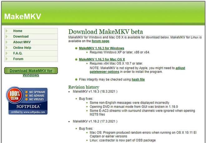 MakeMKV Down