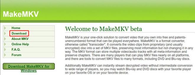 メイクMKV Linux ダウンロードする