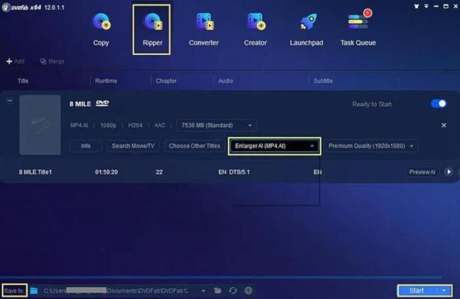 DVDFab DVD Ripper – Video Enhancer