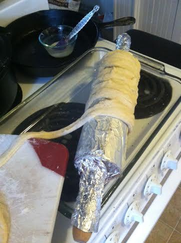 chimney dough onto pin