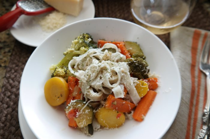 Leftover Vegetables Pasta Primavera