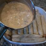 Leftover crawfish etouffee enchilada sauce