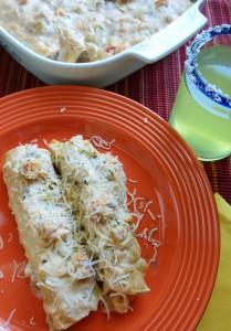 Leftover Crawfish Etouffee Enchiladas