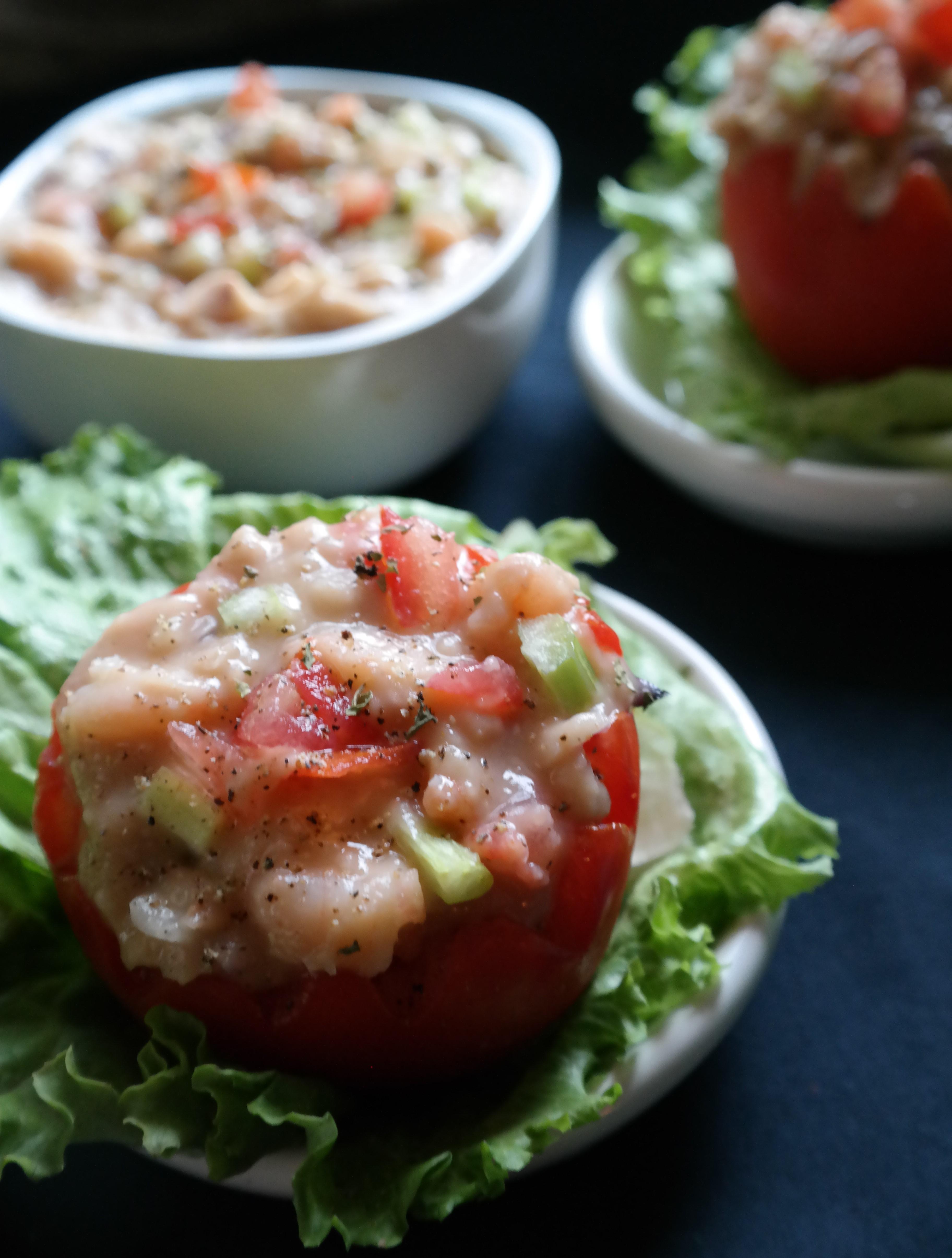 Leftover White Bean Shrimp Salad