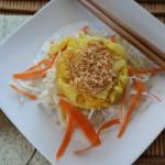 Orange Coconut Curry Shrimp Stack