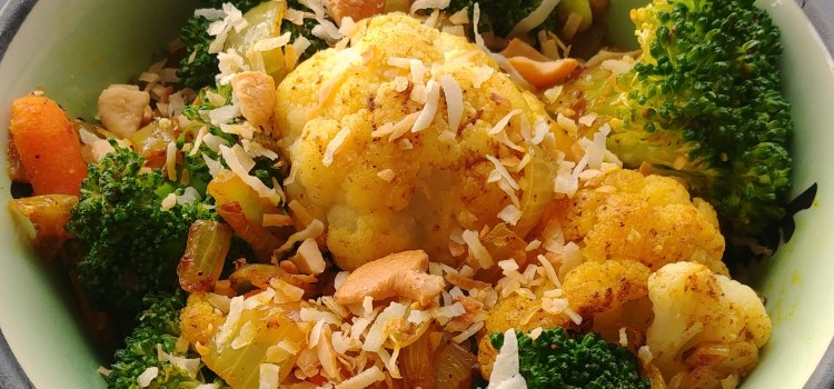 Coconut Curried Leftover Vegetables