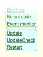 FHEM Neustart Update Button
