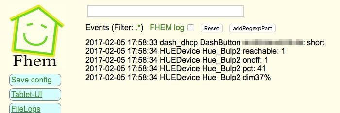 FHEM Dash Button arp notify dash_dhcp