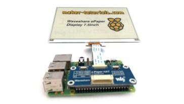 waveshare e-paper eink display bildschirm raspberry pi