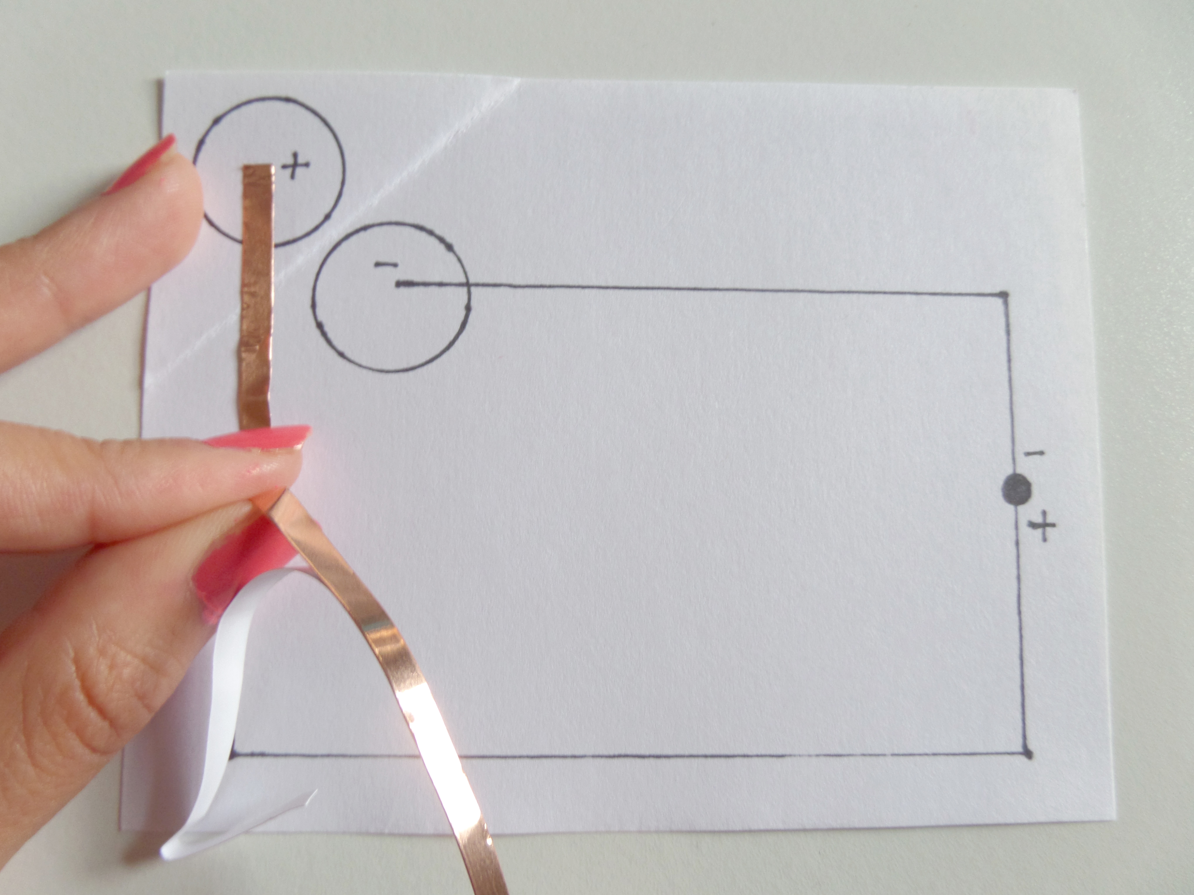 Light It Up Maker Camp Drawing Of A Simple Circuit With Bulb Cell And The Switch So Follows Lines In Diagram To Make Turns Tape Until You Reach Corner Where Want Turn Then Fold