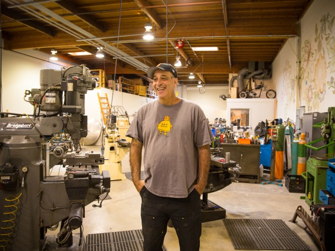Autodesk CEO and Chief Maker extraordinaire Carl Bass in his shop