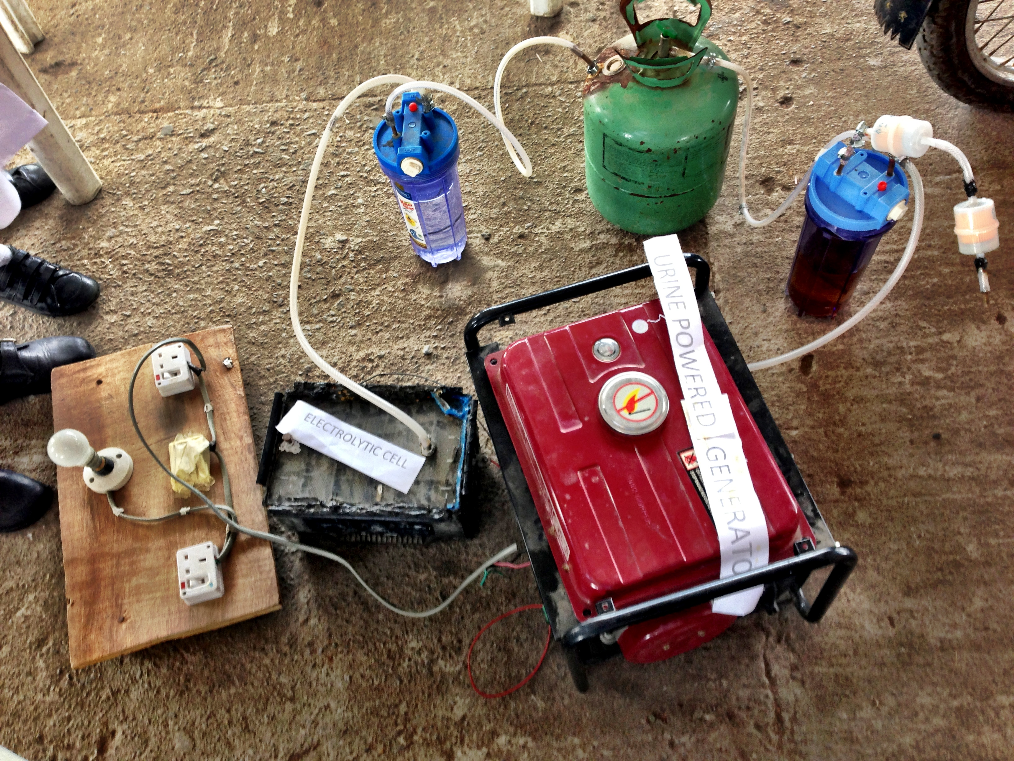 Image result for The Four Girls Who Created A Pee-Powered Generator