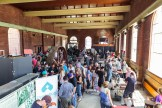Exhibitors inside the historic 1913 Waterworks Building, at Hamilton Steam and Technology Museum