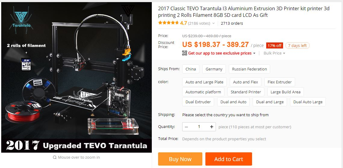 I'm going to order a new Tevo Tarantula!!! Now What?! (Which Version)