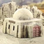 Terrain 4 Print - Desert sci-fi buildings -4