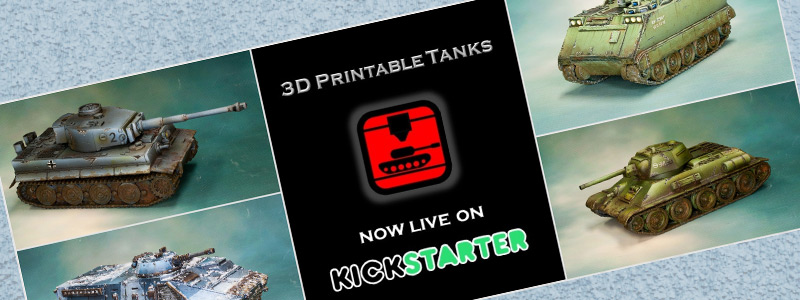photograph about Printable Tanks titled 3D Printable Tanks upon Kickstarter. » Company Exciting 3D - 3D