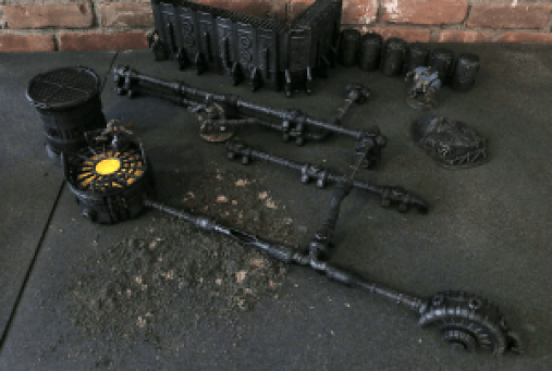 Warlayer 3D Printable Terrain by Andrew Askedall - Various Pieces