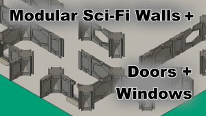 Modular Space Walls for 28 mm WarGaming