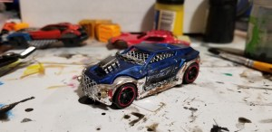 Blue Police Car Conversion - Gaslands