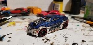 Blue Police Car Conversion - Gaslands
