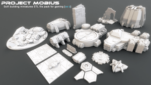 3D Printable Scifi Structures for Tabletop Gaming Vol 2