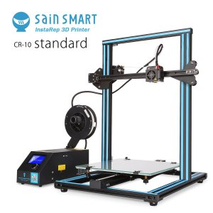 "SainSmart CREALITY CR-10 3D Printer, 11.8"" x 11.8"" x 15.8"", Resume Printing, Semi-Assembled, Single-Z Motor"