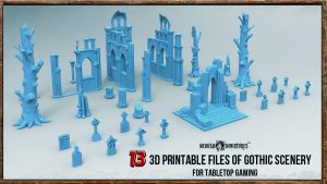 3D Printable Gothic Scenery Files for Tabletop Gaming