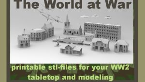WW2 printable terrain for tabletop and modeling