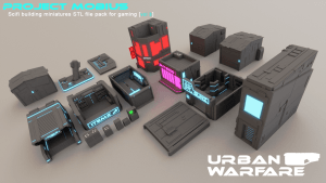 3D Printable Scifi Structures for Tabletop Gaming Vol 3