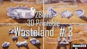 28mm 3D Printable Wasteland #3- OpenLOCK - STL