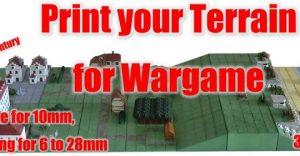 20th century terrain for Wargame - 3D stl files