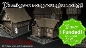 Medieval Scenery - 3D Printable Terrain and Props