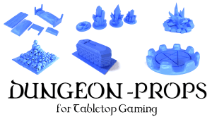 3D Printable Dungeon Prop Models Tabletop Gaming 28/32mm