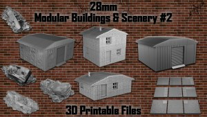 28mm Modular Buildings & Scenery - OpenLOCK 3D Printable #2