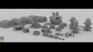 Sci-fi/PostApocalyptic 3d printable playsets for wargames
