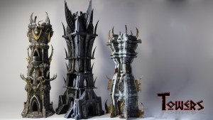 3D Printable Fantasy Towers