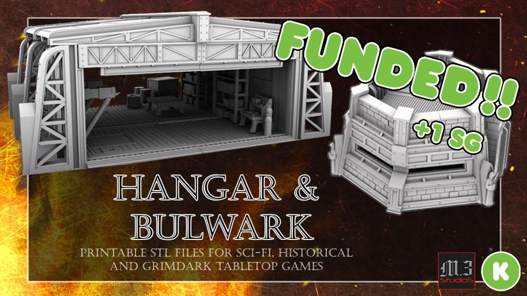 photo about Printable Terrain known as Hangar and Bulwark - Wargaming Skirmish Printable Terrain