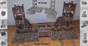 3D Printable Roman Fort