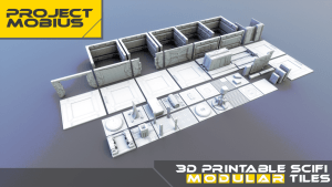 3D Printable Scifi Modular Tiles For Tabletop Gaming