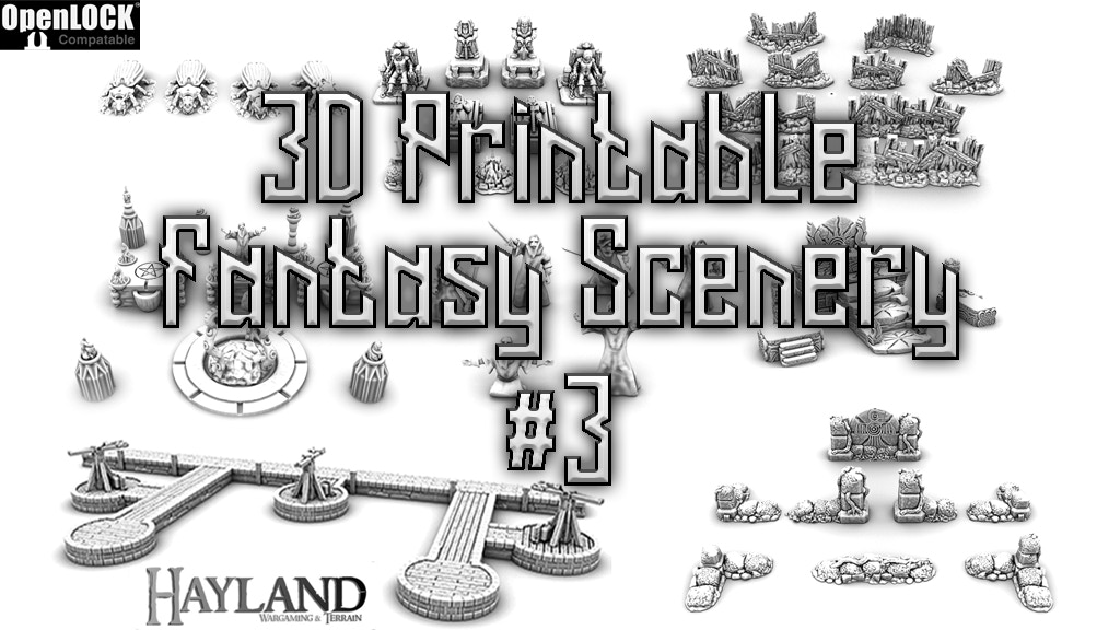 3D Printable 28mm Fantasy Scenery #3 » Maker Fun 3D - 3D Printing