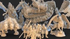 Bestiary - 3D Printable Models