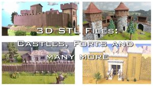 3D printable Castle and Forts parts - OpenLOCK - (STL Files)